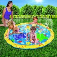 PVC نفخ في الهواء الطلق حمام السباحة بركة رذاذ سادة الأطفال خاتم المياه مع هول لعب الرش تخييم لعبة فورية بسيطة 38FY DD