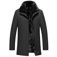 Real Mink Fur Coats Winter Jacket For Man Thicken Warm Tops Parkas Outerwear Overcoat Snow Jackets Men Clothes Big Size L-XXXXXL