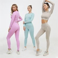 Autumn Designer Yoga Sportwear Tracksuits Fitness 2pcs Gymshark Bra Leggings two Piece Set outdoor outfits Sports pants Gym shark Clothing
