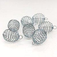 Oggetti decorativi Figurine Accessori per gioielli FAI DA TE Accessori perline Creative Spiral Stone Beads Cage Locket Collana