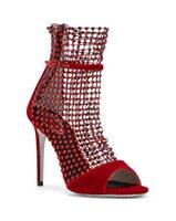Лето Прибытие Женщины открытый крючок псевдоним Алиас противоскользящие таконные насосы красные туфли для брака Смесилимированные сандалии