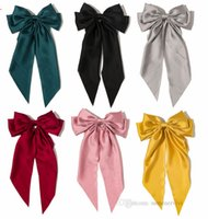 Meninas Grandes Arcos Fita Hairpins Estilo Preppy Kids Bow Cabeleirar Crianças Princesa Barrettes Mulheres Acessório de Cabelo 8.3inch A7308