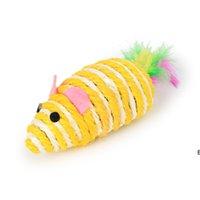 Ratos gato brinquedos bonito divertimento sisal rato gato brinquedo gato mastigar brinquedos interativos Pet corda rato brinquedo jogar brinquedo gatinho teaser brinquedos dhe6988
