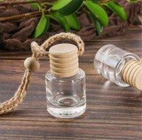 Araba parfüm şişesi araba kolye parfüm süsleme hava spreyi uçucu yağlar difüzör kokusu boş cam şişe cca6560