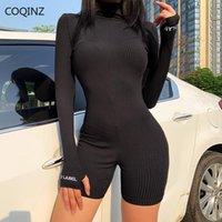 Tek Parça Kıyafet Kadın Giyim Rompers Uzun Kollu Vücut Suits Baddie Tulumlar Şanslı Etiket Giysi Tulum 20915P Kadınlar