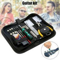 Professional Hand Tool Sets Guitar Repairing Set Kit Carry Bag Maintenance Acoustic Electric Ukulele Bass Musical Instrument Tools