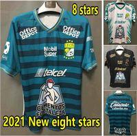 2021 Leon Soccer Jerseys 홈 멀리 38 별 Camisetas 멕시코 리그 Sosa Macias Leonardo Ramos Football Shirts Club León FC 캠페이타
