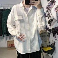 Men's Dress Shirts Ins National Tide Stripe Plaid Shirt Brand And Women's BF Loose Hip Hop Spring Autumn Couple Jacket