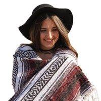 Radkappen Masken Authentische mexikanische Decke - Yoga-Decke, Handgewebtes Serape Perfekt als Strandpicknick im Freien
