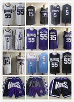 "Mens Sacramento ""Reis"" Jersey Rindo De'aaron 5 Fox Marvin 35 Bagley III Jason 55 Williams Basketball Shorts Basketball Camisas"