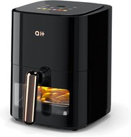 AIR FRYER 3.5 QUART OILLSS OVEN-fornuis, LED-scherm voor 6 één-touch-presets, temperatuurregeling, automatische uitschakeling, non-stick glazen mand met 100 digitale recepten kookboek