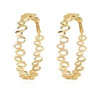 Hoop & Huggie Metal Round Stud Earrings Earing For Girls Kid Christmas Jewelry Women Pendientes Small Hollow Circle Stitching