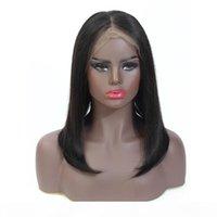 Kısa Düz Bob Dantel Ön Peruk 150 Yoğunluk Malezya Pixie Kesim Düz İnsan Saç Peruk 8-16 inç Dantel Frontal Peruk Remy Saç
