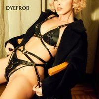 Bondage DYEFROB BDSM Sexy Ladies Underwear Adult Garter Belt Leather Body Hip Adjustable Fetish Erotic Sex Toy Suitable Women
