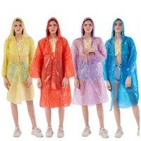 Tek kullanımlık yağmurluk yetişkin acil su geçirmez yağmurluk açık erkekler ve kadınlar çok amaçlı seyahat kamp yağmurluk moda cep toka