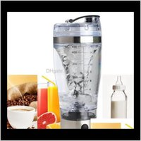 Bottles Drinkware Kitchen, Dining Bar Home & Gardenelectric Protein Shaker Blender Water Bottle Matic Movement Vortex Tornado 450Ml Bpa Detac
