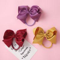 الاكسسوارات القوس اليدوية للأطفال الشعر حافة لون نقي الخيوط الشريط الطفل الجميلة JBOW 9784