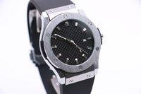 Мужские механические часы бизнес мода современный серебряный корпус из нержавеющей стали резиновый резиновый ремешок 3 игла календарь черная сетка поверхность 43 мм