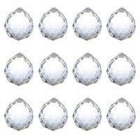 40mm 크리스탈 볼 프리즘 크리스탈 유리 공 샹들리에 장식 매달려 패싯 prism 공 구슬 결혼식 홈 장식 gwb8808