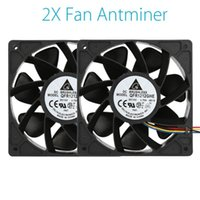Fans & Coolings 120x 120 X 38mm 2x 6000RPM Replacement Silent Case Fan Cooling 4-pin Connector Cooler For Antminer Bitmain