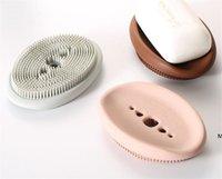 مصنع سيليكون حامل الصابون مع تنظيف لينة فرشاة الراحة حاملي الإسفنج المطبخ المنظم ملعقة تخزين عدم الانزلاق DHB5985