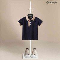 Camisas Crianças Verão Novo Bebé Bebé Roupas de Manga Curta Joker Casual Harajuku Tshirt Crianças Moda T-shirt Boys Funny Stripe Cópia