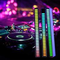 Smart Pickup Ambient LED Light Bar Modification Интерьер Настольный Audio Spectrum RGB Музыкальный ритм Атмосферная лампа