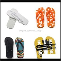 Other Toilet Supplies Bath Garden Drop Delivery 2021 Sublimation Blank Flops Flat Bottomed Rubber Slipper Women Men Home Furnishing Shoes Ind