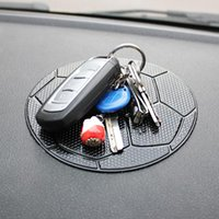 Anti-slip Mats Car Dashboard Sticky Pad Phone Holder Silicone Football Mat Automobiles Interior Non-slip Cushion For GPS Doll Key