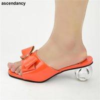 Dress Shoes Ladies Square Toe High Heel Elegant Sandals Female Heels Slippers Women Summer Shoe Nigerian Quality