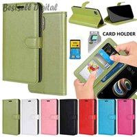 Fashion Solid Color Photo Frame Card Slot PU Leather Case For Samsung Galaxy S3 S4 S5 S6 S7 Edge S8 S9 S10 S20 Note 20 10 9 8 Plus Ultra