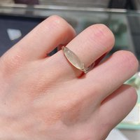 Fashion Agete Ocean Collection Natural Grape Stone Ring Gold Plated Real 925 Sterling Silver Rings