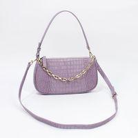 Hohe Qualität Handtasche Outdoor Freizeit Frauen Umhängetasche Mini Feste Farbe Stein Muster Design Unterarm Messenger Dame Geldbörse