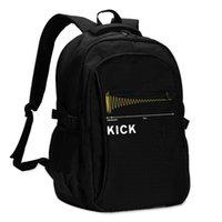 バックパックキックアスバックパック充満USB夏男性プリント基本バッグ