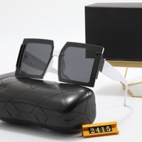 Designer Sunglasses men's and women's fashion UV400 metal gold frame glasses luxury high quality 8-color ribbon box
