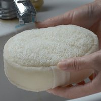Natural Loofah Sponge Bath Ball Shower Rub Wash Body Pot Sponge Scrubber Durable Healthy Massage Brush