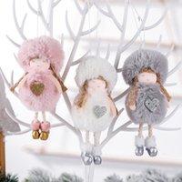 Decorações de Natal sem rosto gnomo santa xmas árvore pendurado ornamento de malha claus boneca decoração para casa pingente presentes navidad rrf8637