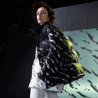 Mens estilista casaco deixa impressão parka jaqueta de inverno homens mulheres inverno penas casaco de sobretudo para baixo casaco casaco tamanho m-2xl jk005