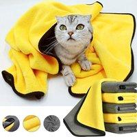 S-XLPT Toallas de baño para perros para pequeños perros medianos gatos súper absorbentes mascotas Secado rápido de la toalla de la toalla de limpieza de la tela de la fibra de la fibra gato