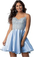 Party Dresses Women's Short Homecoming Dress For Juniors Floral Lace Beaded Cocktail With Pockets Evening Vestido De Festa Gown