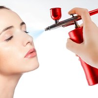 Cleaning Top 0.3mm Mini Air Compressor Kit Air-Brush Paint Spray Gun Airbrush For Nail Art Tattoo Craft Cake Nano Fog Mist Sprayer