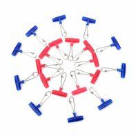 쉬운 캐치 10pcs 낚시 싱커 슬립 클립 플라스틱 헤드 스위블 브레이드 라인 액세서리에 대한 훅 스냅 무게 슬라이드