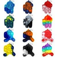 US Stock Partito favore parole Decompressione giocattoli mini spinta bolla irrequieto colorato la forma di tra gli spacemen roditore controllo pioniere semplice tasto singolo tasto