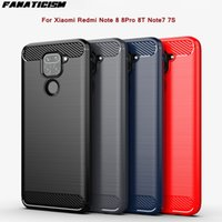 50pcs lot Anti-fingerprint Carbon Fiber Brushed TPu Cases For Redmi Note 8 8Pro 8T Note7 7S 7pro Shockproof Soft Silicone Phone Cover