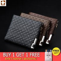 TCGAD man wallet short purse billetera hombre porte feuille PU male big pocket skin wallets vintage luxury man purse