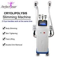 Tıbbi Sınıf Cryolipolysis Serin Şekil Makinesi Kriyoterapi Yağ Dondurular Ultrason Kavitasyon Kilo Kaybı RF Cilt Lipo Lazer Zayıflama Sıkın