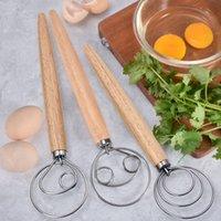 Masa batidor mezclador herramientas de licuadora pan harina huevo batidor acero inoxidable estilo holandés pastel danés postre admixer cocina herramienta mar GWC7585