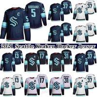2021 Seattle Kraken Ice Hockey Jersey 5 Mark Giordano 29 Vince Dunn 37 Yanni Gourde 32th New Team Custom Mens Womens Youth Qualquer Nunber Qualquer nome Hóquei Jerseys