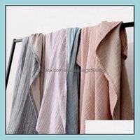 Blankets Textiles Home Gardenblankets Lightweight Muslin Cotton Blanket Twin Double Size Throw For Bed & Sofa Summer Bedding Erlet Bedspread