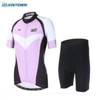 Conjuntos de carreras Xintown transpirable Ropa Ciclismo Ciclismo Sport Jerseys Mujer Bicicleta Ropa Montaña Camisas Camisas Shorts Lavender